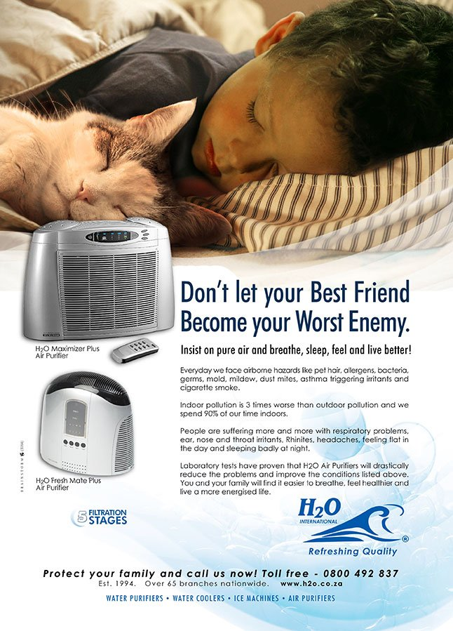 Print Advert by Brainstorm for H2O Air Filters