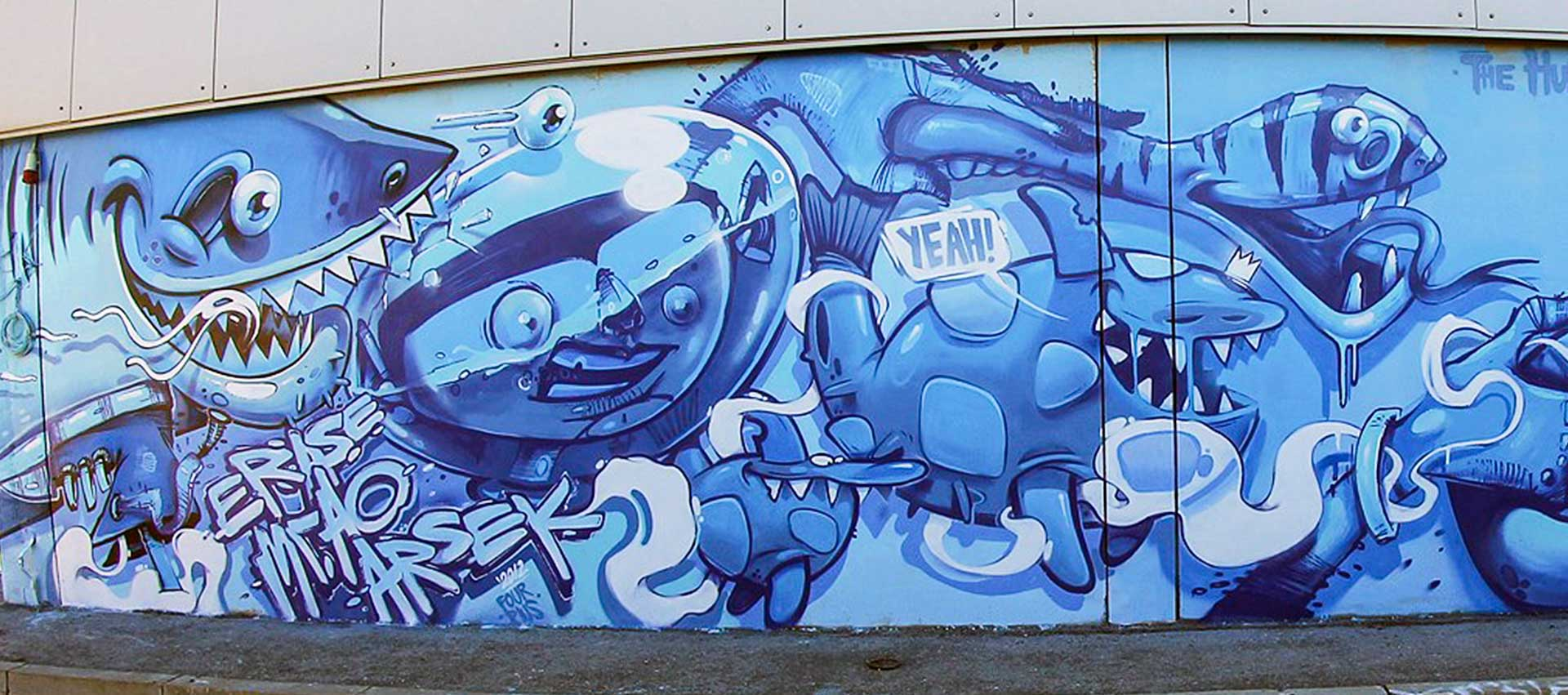 Blue Graffiti Art
